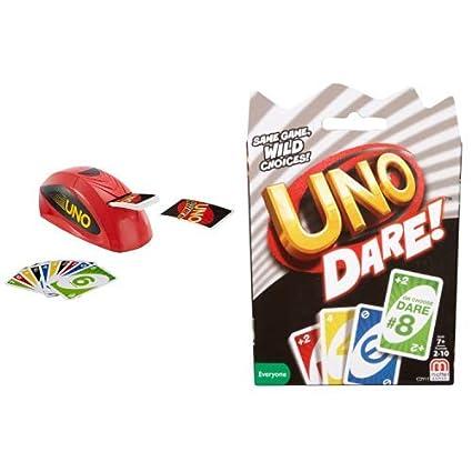 Mattel Games UNO Dare Card Game Gry karciane Współczesne gry karciane