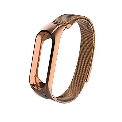 Kacowpper Accessory for Xiaomi Mi Band 3, 2018 Milanese Magnetic Loop Stainless Steel Watch Band Strap for Xiaomi Mi Band 3