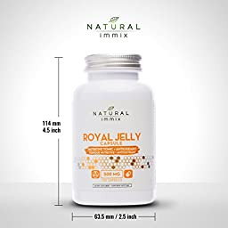 Natural immix - Royal Jelly Powder Capsule, Nutritive Tonic and Antioxidants, 120 Capsules