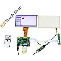 NJYTouch Raspberry Pi AT070TN92 LCD Display Screen TFT Monitor with PCB800099 HDMI VGA AV Controller Board + Touch Panel Kit