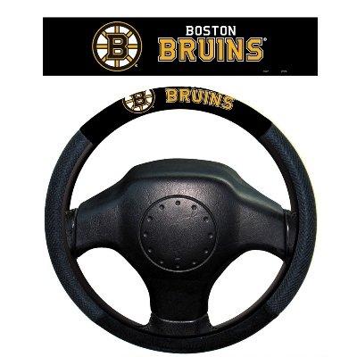 NHL Boston Bruins Poly-Suede Steering Wheel Cover