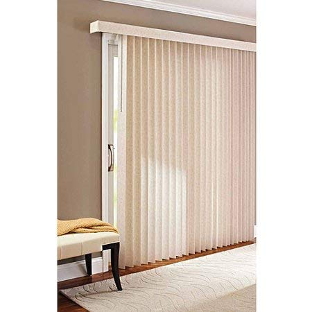 Better Homes & Gardens* 78 x 84 Light Control Durable PVC, Vertical Textured S-Slat Privacy Blinds, Beige, Pack of 2