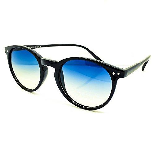RONDE mod homme de Johnny style Noir Lunettes Bleu MOSCOT Culte le VAGUE unisexe VINTAGE Lumière femme de Teintè de Depp Kiss soleil qwgfBTO