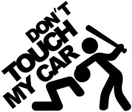 negro ZERTRAN Coche Estilo Pegatina Decoraci/ón del coche Etiqueta engomada del coche DIY para No toques mi carro