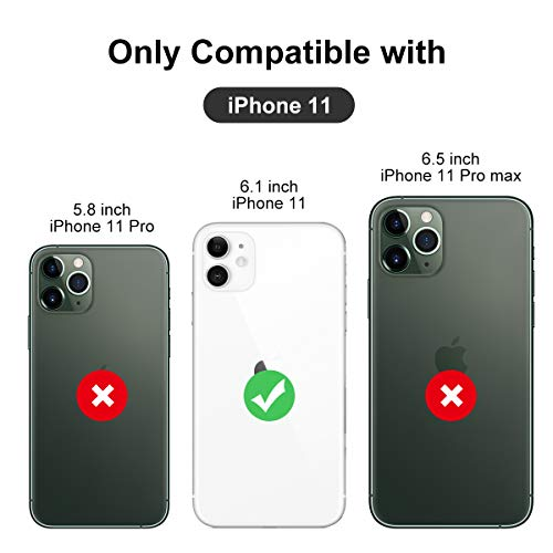 Kocuos iPhone 11 Case Anti-Scratch & Fingerprint & Microfiber Liner Shock Absorption Gel Rubber Full Body Protection Liquid Silicone Case for iPhone 11 6.1 inch (Black)