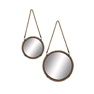 "Deco 79 Metal Frame Mirror (Set of 2), 31"" 25"""