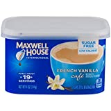 Maxwell House International Cafe Instant French Vanilla Coffee (4 oz Canisters, Pack of 4)
