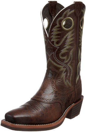 Ariat Men's Heritage Roughstock Western Cowboy Boot, Thunder Brown, 11 -