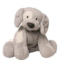 """Gund Spunky Dog Plush Toy, Gray, 10"""""""