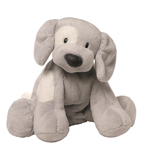 Gund Baby Spunky Dog Stuffed Animal, Gray - White Stuffed Animal Dog