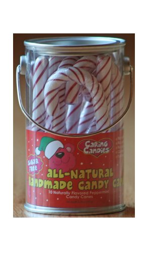 Sugar-free Natural Candy Canes - Holiday Can