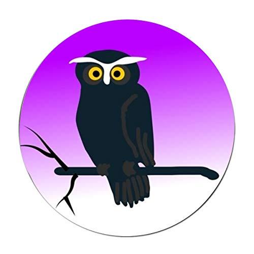 JONHBKD Clipart Halloween Owl Round mat Anti-Slip Bottom - Protect Floors and Making Vacuuming Easier -