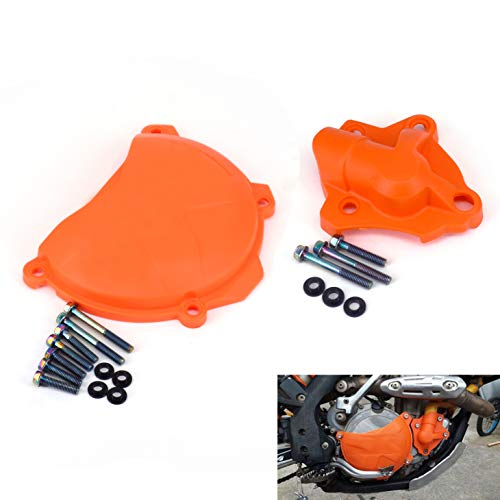 - Water Pump + Engine Case Clutch Cover Guard Protector For KTM 250 SXF 350 XCF XCFW 13-15 250 EXCF XC-F XCF-W 14-15 350 SX-F 11-15 350 EXC-F Freeride 12-15