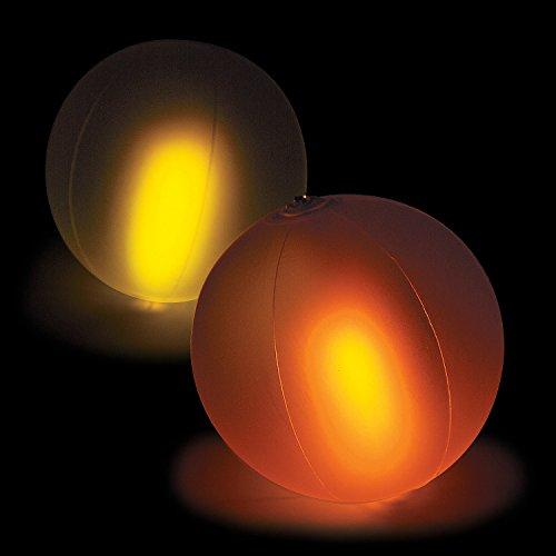 Fun Express - Color Changing Glow Beach Balls (dz) - Toys - Inflates - Beach Balls - 12 Pieces