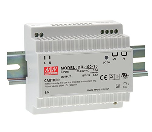DIN Rail PS 90W 12V 7.5A DR-100-12 Meanwell AC-DC SMPS DR-100 Series MEAN WELL Switching Power Supply from MEAN WELL