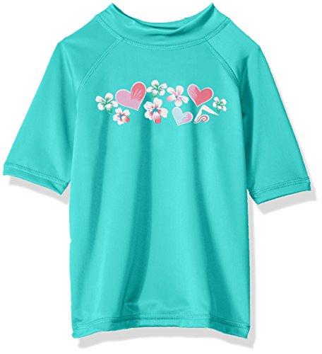 Kanu Surf Big Girls' Karlie UPF 50+ Sun Protective Rashguard Swim Shirt, Alania Green, Large (12) ()