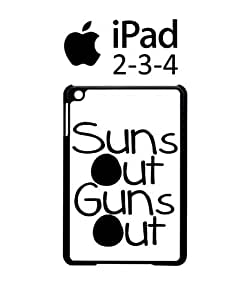 Suns Out Guns Out Summer iPad 2 3 4 Tablet Black