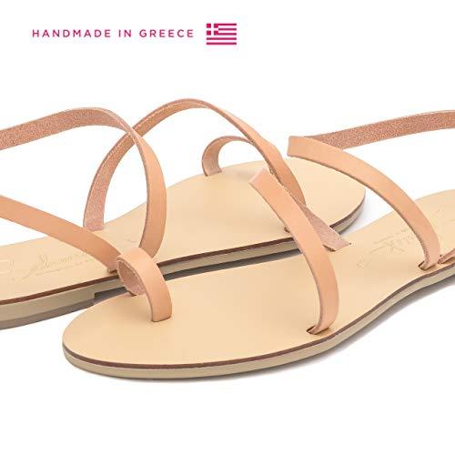 Zapatos Natural Cuero Mujer Planos Gladiador Verano A Bohemia Sandalias Hechos Mano De Hekate Schmick 8OtYxn