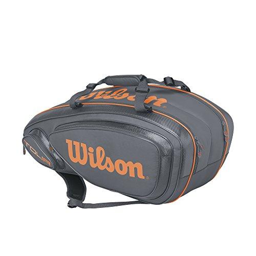 Wilson Tour V 9 Pack Tennis Bag, Grey/Orange