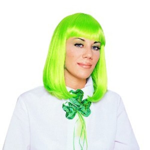 [Peggy Sue Neon Green Adult Wig] (Neon Green Wigs)