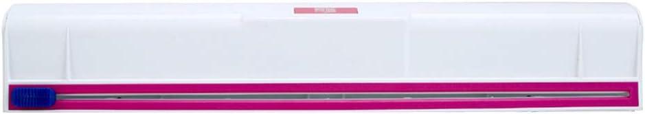 BESTonZON Plastic Wrap Dispenser Cutter Food Freshness Film Dispenser Food Wrap Slide Cutters (White)