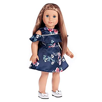 DreamWorld Collections - Romantic Moment - Dark Blue Dress - Clothes Fits 18 Inch American Girl Doll (Doll Not Included): Toys & Games