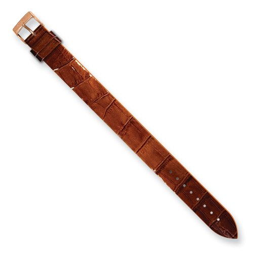 Alligator Texture Patent Finish - Moog Paris CC-15RG Alligator Texture Calf Leather Patent Finish Watch Strap