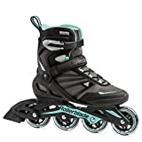 Rollerblade Zetrablade Women's Adult Fitness Inline Skate, Black/Light Blue, US Women's 8