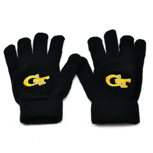 Georgia Tech Yellow Jackets Official NCAA One Size Knit Gloves (Georgia Tech Knit)