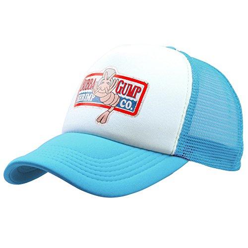 Greed Land Forest Gump Shrimp Blue Hat Mesh Baseball Trucker Cap Cosplay Costumes -