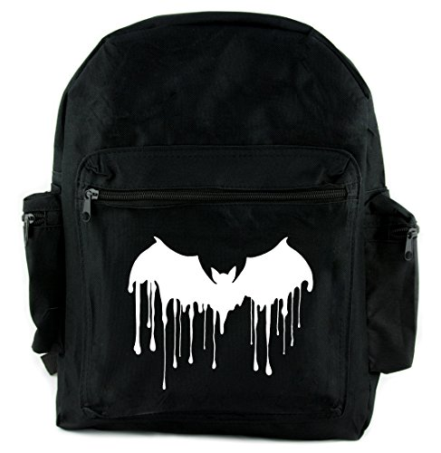 Blood Drip Vampire Bat Backpack School Bag Gothic Deathrock Alternative (Bat Drip)