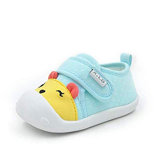 MK MATT KEELY Baby Shoes for Boys Girls First Walkers Cute Bear Toddler Sneakers Prewalkers Soft Rubber Sole,Newblue