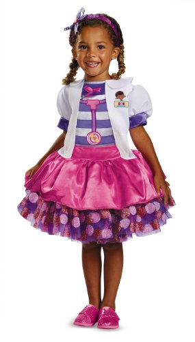 Halloween Costumes Doc Mcstuffins (Disney Doc Mcstuffins Tutu Deluxe Toddler Costume, Medium/3T-4T)