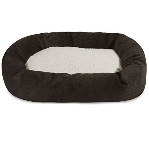 (52 inch Storm Villa Collection Sherpa Bagel Dog Bed)
