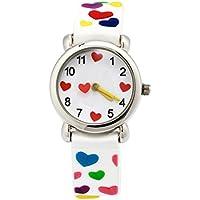 Eleoption Cute Cartoon Digital Silicona Relojes regalo para las niñas Boy Kids