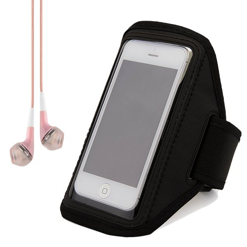 Black Runnning Sports Armband Pouch Case for iPhone 6 / 5 /