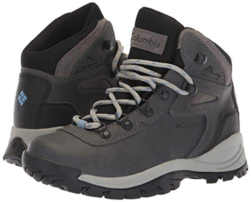 Columbia Women's Newton Ridge Plus Hiking Boot, Quarry/Cool Wave, 9.5 Wide US