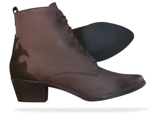 SixtySeven 67 Oleato Serraje femmes Cuir Ankle Boots - Brown