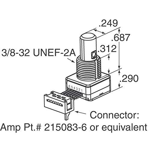 ROTARY ENCODER OPT 32PPR 5'' CBL, (Pack of 1) (62S11-M0-050C)