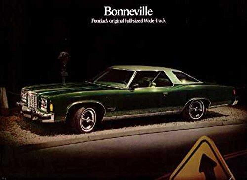 Brochure Bonneville Sales Pontiac (1974 Pontiac Bonneville Sales Brochure Literature Piece Advertisement Options)