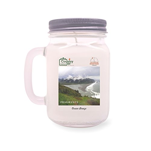 Country Jar Ocean Breeze Soy Candle (14 oz. Mason-Carry Jar) [+] 15%-20% Off Entire Catalog! Mix or Match!