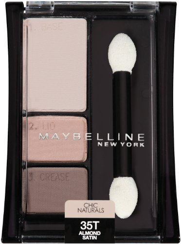 Maybelline New York Expert Wear Eyeshadow Trios, Chic Natura