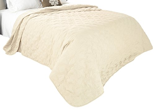 Solid Color Quilt by Lavish Home Twin - Ivory