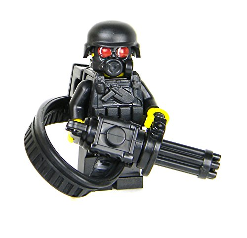 Heavy Gunner Minigun soldier (SKU69)- Battle Brick Custom Minifigure