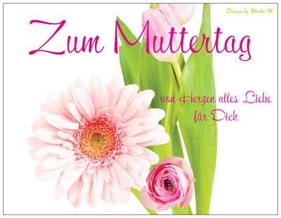 karte muttertag Muttertag Muttertagskarte Tulpe Blumen Feier Party
