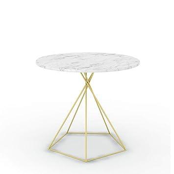 Runder Tisch Metall.Amazon De Haiming Zhuozi Kleiner Runder Tisch Eisen Tisch