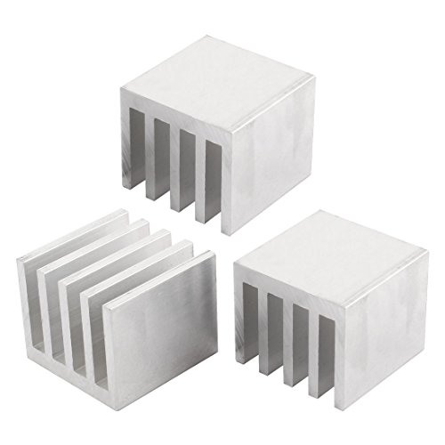 3PCS 35x35x30mm Aluminum Heatsink Cooling for LED Power Memory Chip by uxcell
