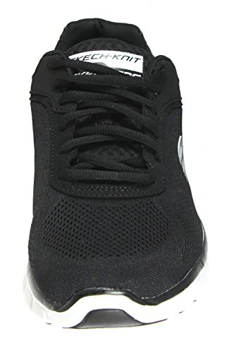 Skechers Sport Männer Synergy Power Switch Memory Foam Athletic Training Sneaker Schwarz / Weiß / Silber
