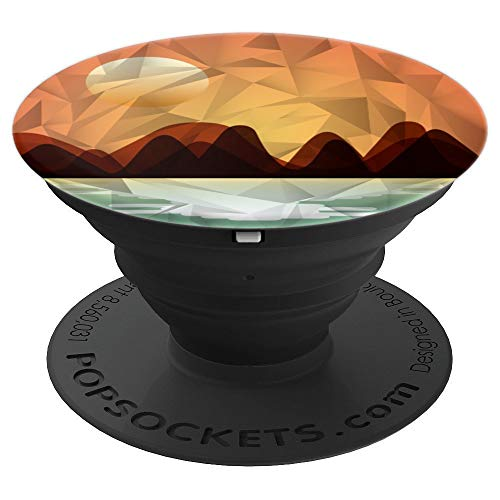 BEAUTIFUL SUNSET CAST ON SEA RIVER MOUNTAIN - PopSockets Grip and Stand for Phones and Tablets