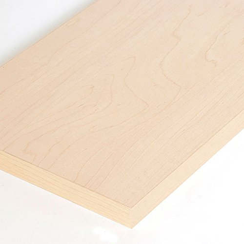 Case of 10 New Maple Melamine Shelf Measures 3/4''-thick 8'' x 24''